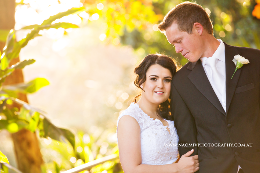 Palm Tree Court Roma Street Parklands Wedding. Image kindly provided by Naomi V Photography