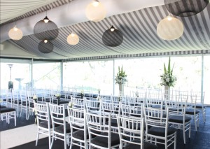 Victoria Park Golf Complex Garden Marquee Wedding with Celebrant Jamie Eastgate.