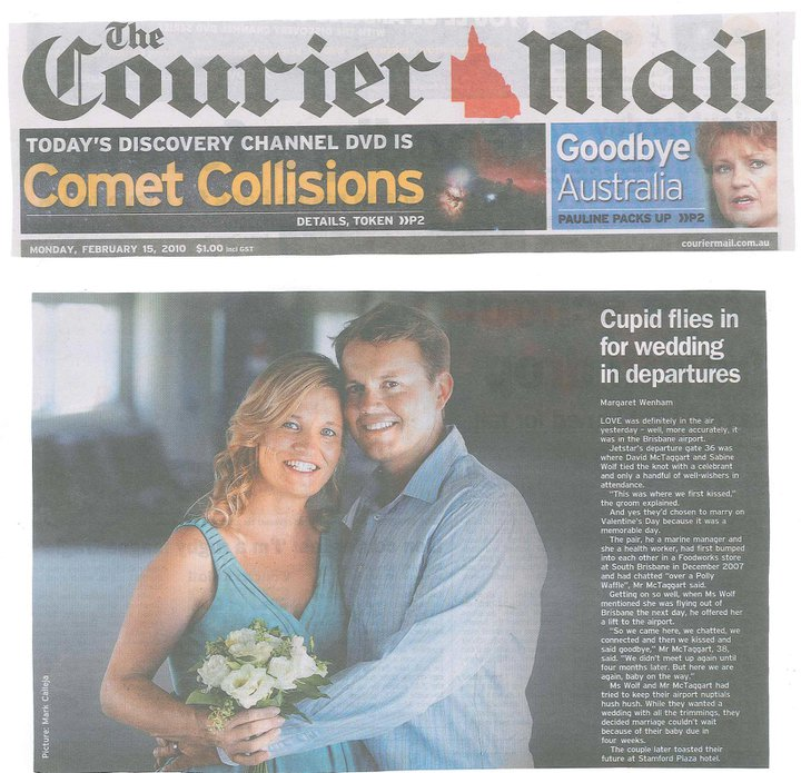 Brisbane Airport Valentines Day Wedding with Jamie Eastgate of Brisbane City Celebrants